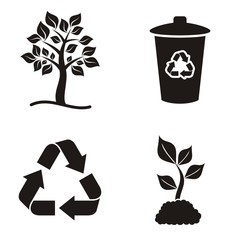Eco and recycle icons