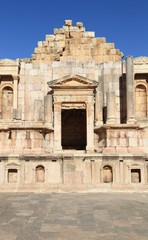 The Stage at the theater in Jerash, Jordan