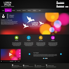 Modern Website Template /Vector/
