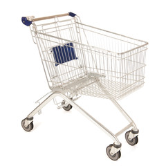 Metal shopping cart
