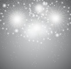 Glossy Fireworks Background Vector Illustration