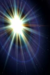 sunburst in space