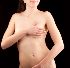 Young healthy naked girl