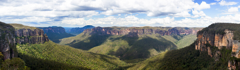 Spoed Fotobehang Australië Grose Valley in Blue Mountains Australia