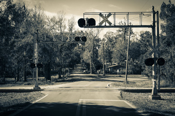 Railroad Crossing Back in Time