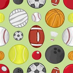 Sport balls pattern - #1