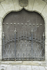 Door with black railings