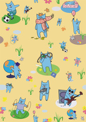 creative wallpapers cats