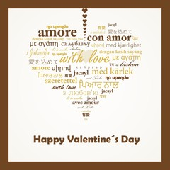 "Vector concept of words ""with love""."