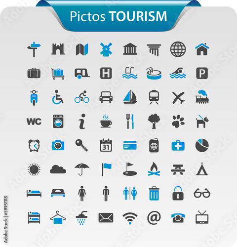 """Bevorzugt Pictogramme, icône tourisme"""" fichier vectoriel libre de droits sur  PO38"""