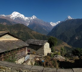 View from Ghandruk, famous Gurung village in Nepal