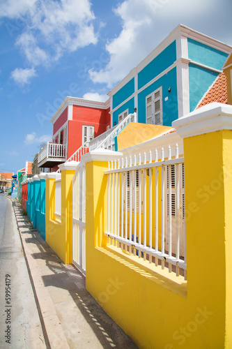 Wall mural Colorful Curacao