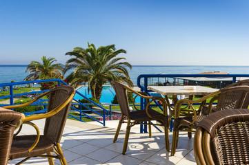 veranda of the hotel with sea view