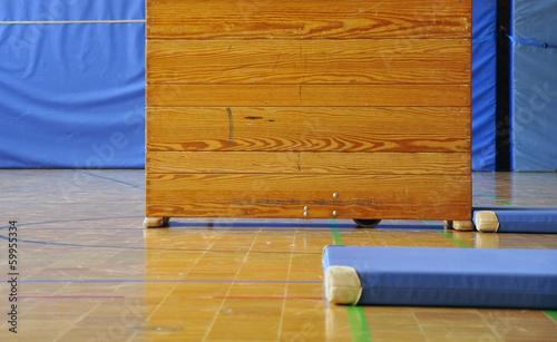 Sportunterricht Turnen Schulsport Kasten Stockfotos Und