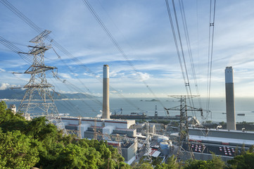 Power station and Electricity Pylon