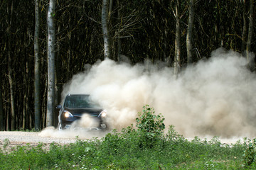 Fototapete - car off road