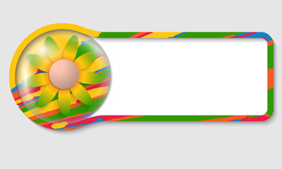 colored text frame for any text and flower