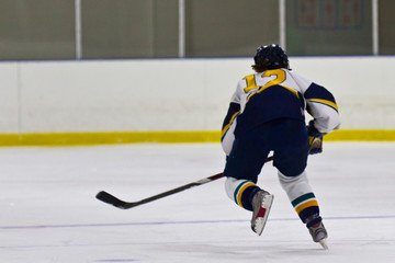Female ice hockey athlete