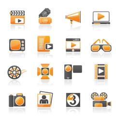 Movie and cinema icons -vector icon set