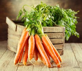 Fototapeta fresh carrots obraz