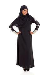 young muslim woman portrait