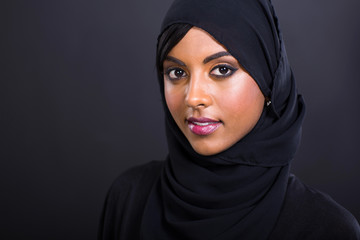 young muslim woman head shot