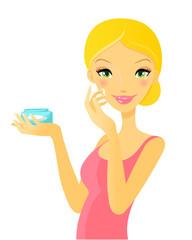 Woman. Skin care
