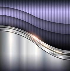 Abstract background metallic waves