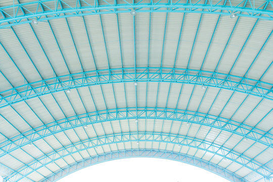 metal roof with steel structure