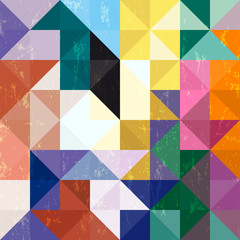 abstract geometric pattern background, with triangles/squares an