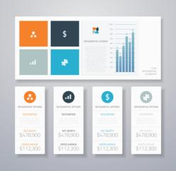 Minimal infographic flat ui elements vector illustration