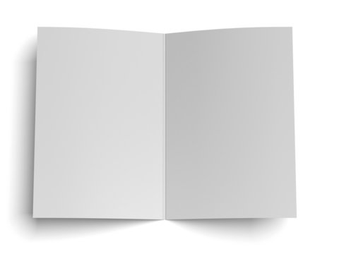 blank opened paper