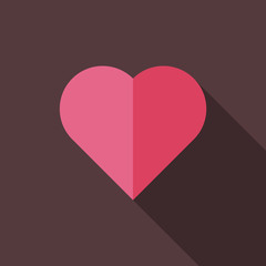 Flat vector illustration of heart