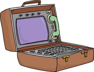 Retro Laptop Computer