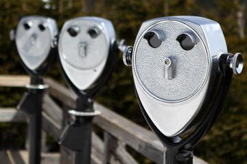 Coin operated binoculars - Whiteface ski resort - UpNY