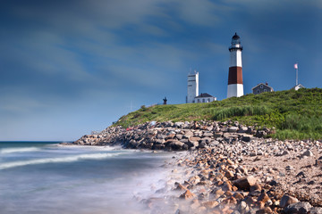 Montauk Point Lighthouse in Long Island, NY Wall mural
