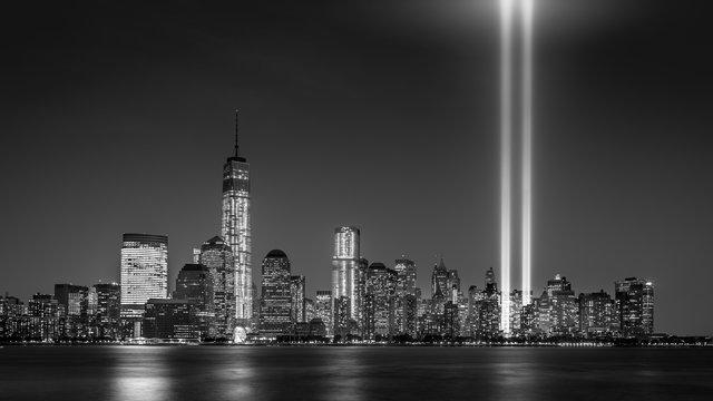 Tribute in Light, on September 11th, in New York City