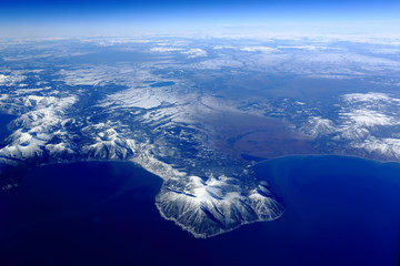 bird's eye view of the Kamchatka Peninsula