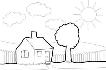 Houses efficiency label classes - illustration