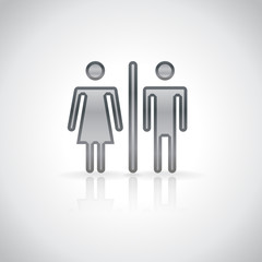Man and woman infographic symbol. Vector