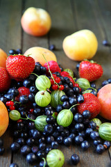 pile of fresh berries on the table