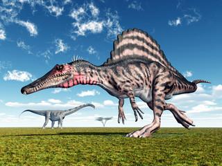 Die Dinosaurier Spinosaurus und Puertasaurus