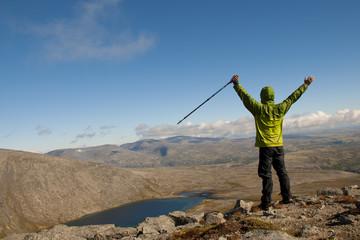 Hiker on top