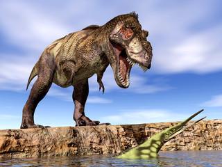 Tyrannosaurus Rex and Hupehsuchus