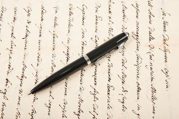 handwritten with pen