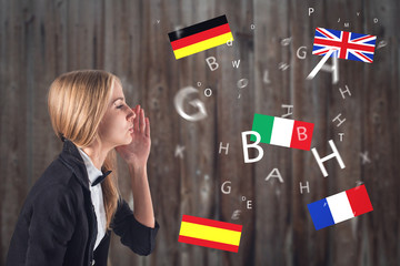 Foreign Language. Concept - learning, speaking, travel