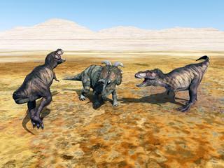 Tyrannosaurus Rex and Albertaceratops