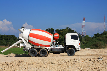 Concrete Truck on construction site