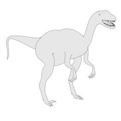 cartoon image of velociraptor dino