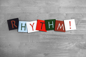 Wall Mural - Rhythm, sign series for vocals, singing, dance and music.